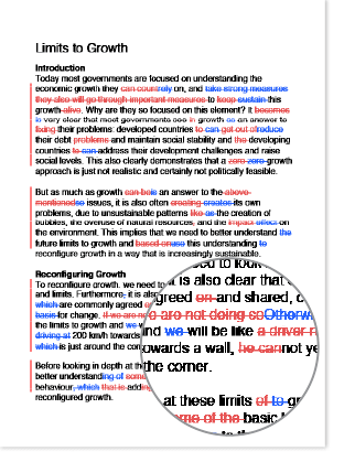 Sample document with edits